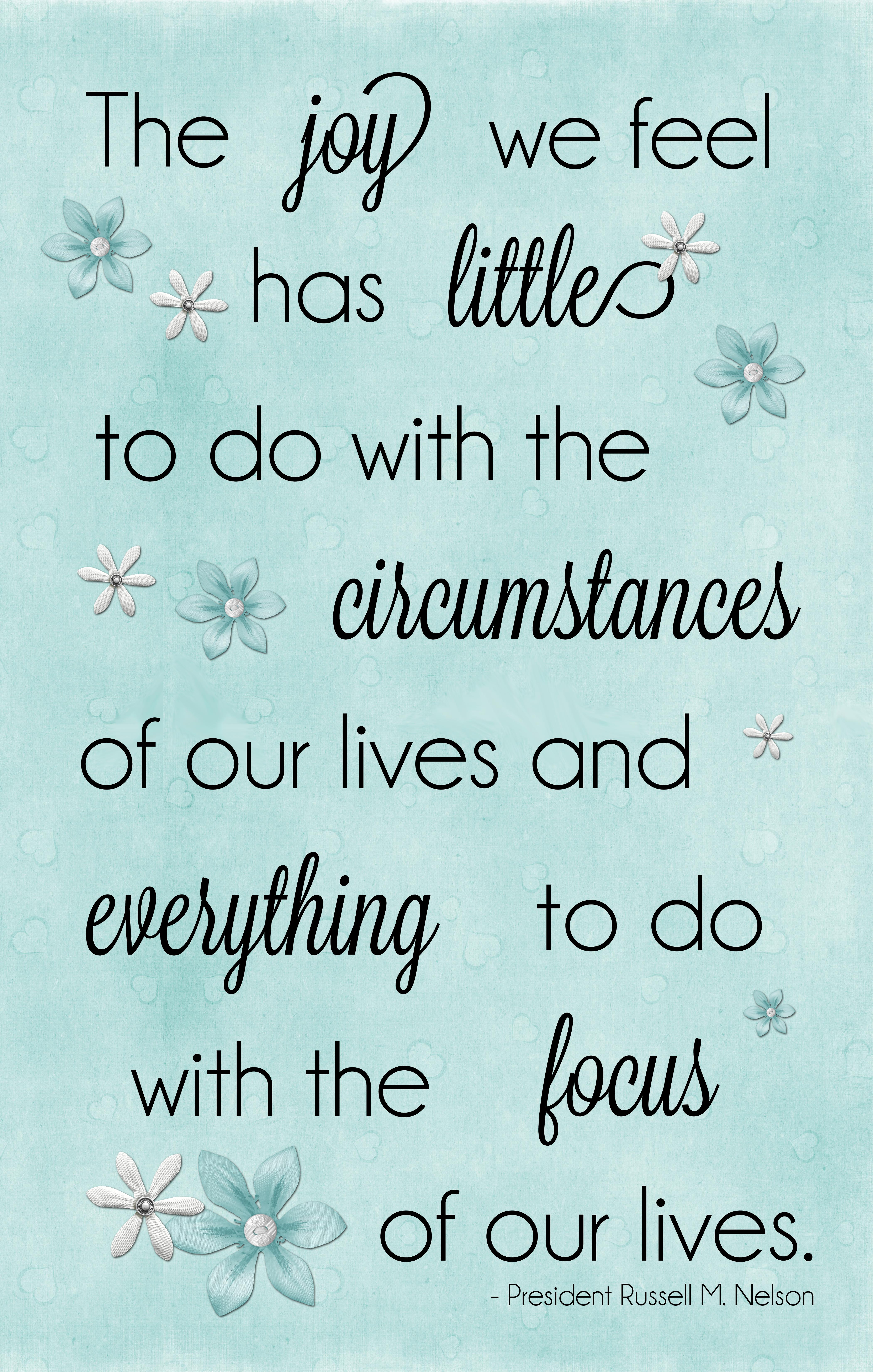 joy and focus